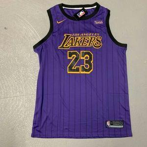 NIKE LeBron James Lakers Purple City Jersey XL